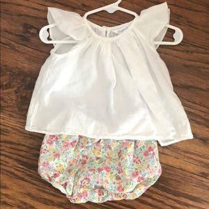 Ralph Lauren 3 month outfit top bloomer set